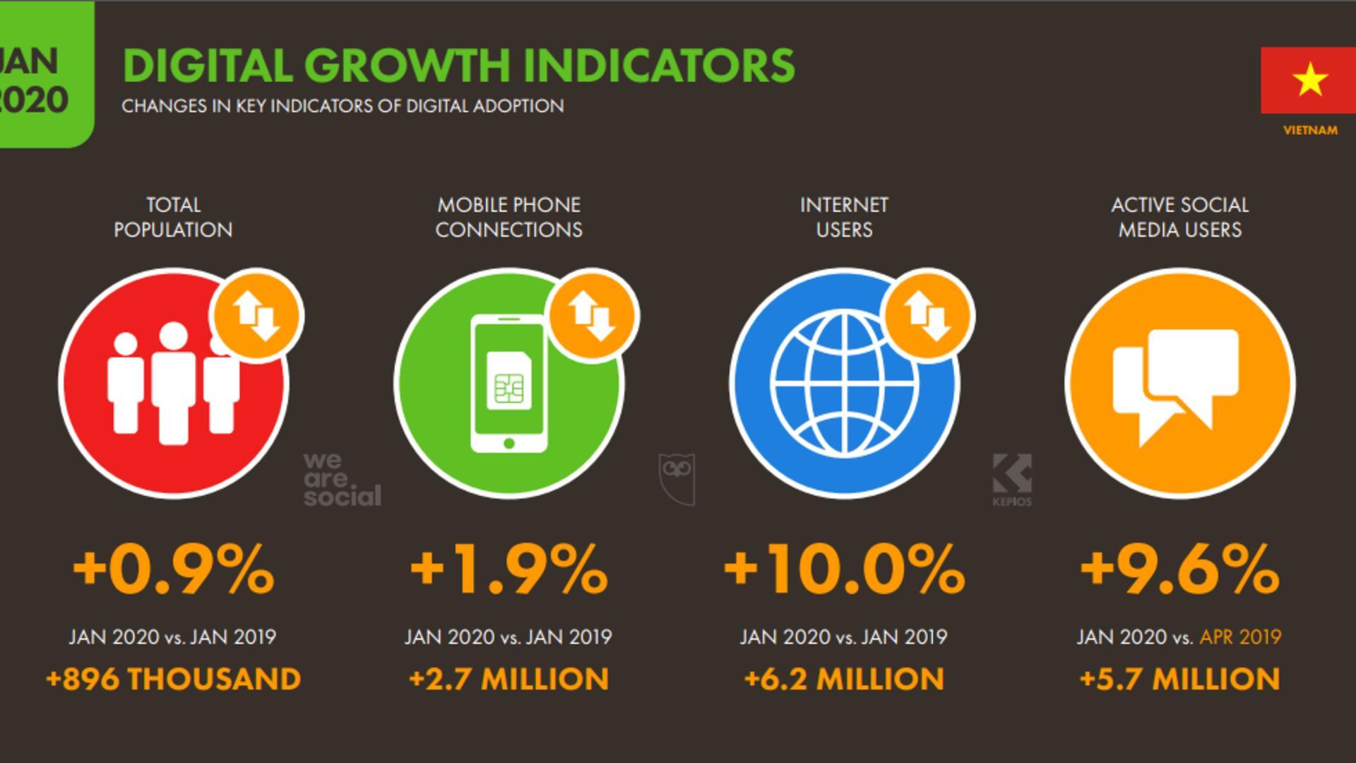 Vietnam Internet Statistics 2020 Vnetwork Jsc