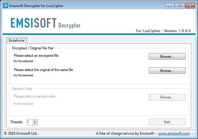 Chọn cặp tệp theo yêu cầu của chương trình giải mã