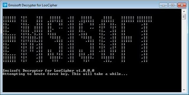 Quá trình giải mã ransomware LooCipher