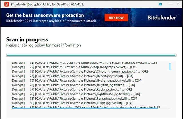Quá trình giải mã tập tin bị mã hóa bởi ransomware GandCrab